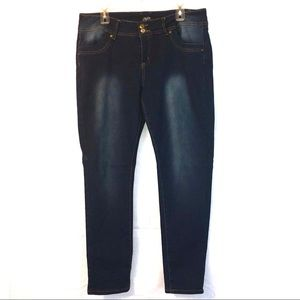 One5one Dark Blue Faded Jeans w Spandex Women 14